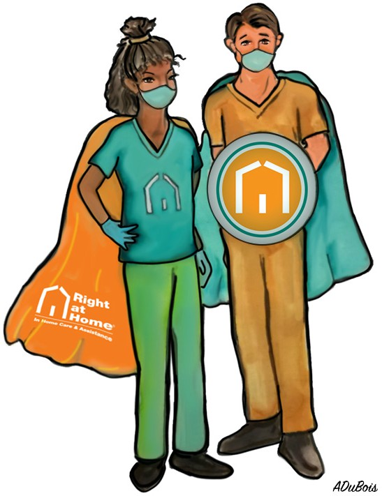 Right at Home Caregiver Superheroes