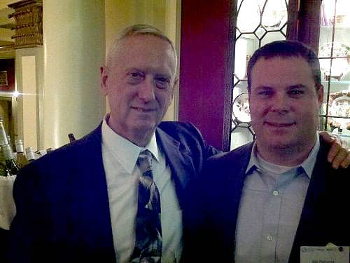 Bill Osborne pictured with General James N. Mad Dog Mattis, US Secretary of Defense