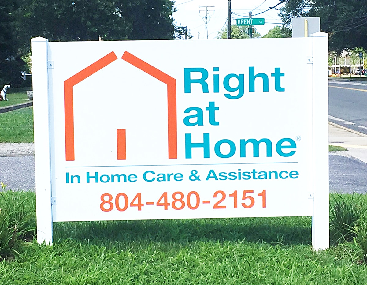 Right at Home sign