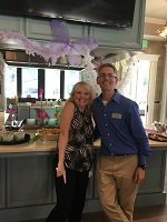 Keith Schafer and Nancy Cherry at Artisan Lakes Nocatee Wacky Golf Night