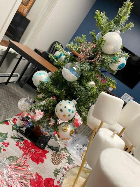 S'mores and Table Top Christmas Tree at Right at Home Grand Junction