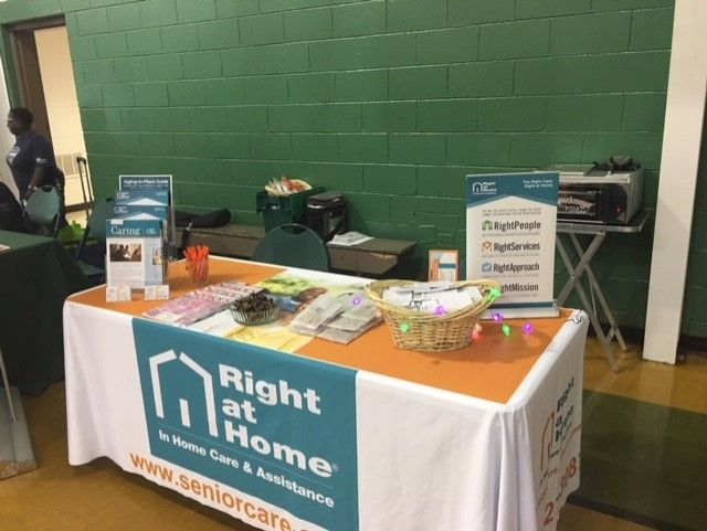 Right at Home Rock Hill | Senior Health Fair Table