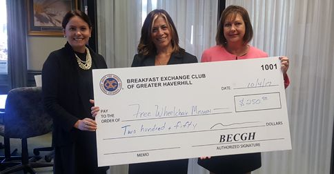haverhill breakfast exchange club free wheelchair mission donation