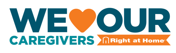 We love our caregivers logo from right at home