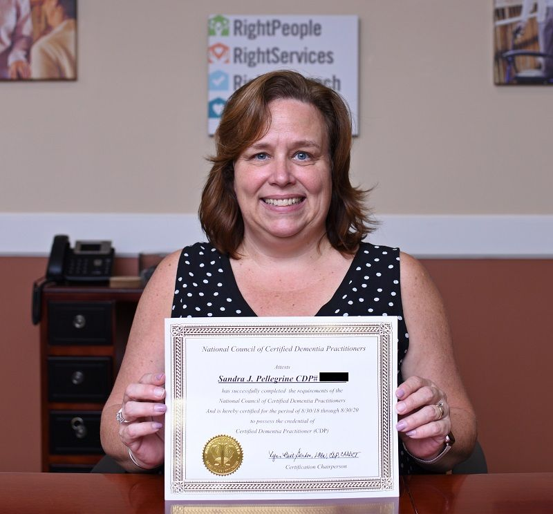 sandy certified dementia practitioner