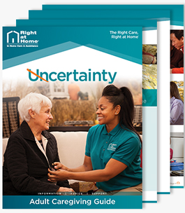 Adult caregiving guide stack.