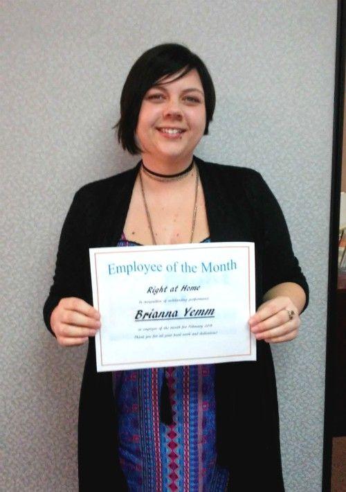 Brianna Yemm - February Employee of the Month