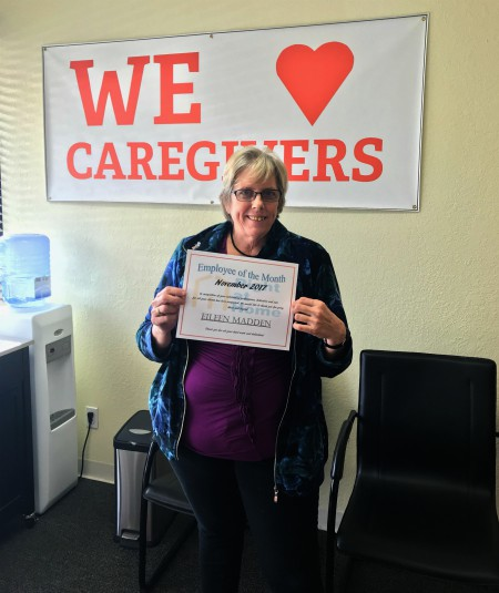 Caregiver of the Month Eileen Madden