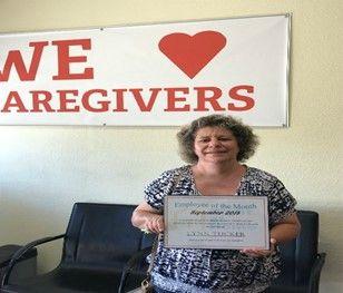 Lynn Tucker - Caregiver of the Month September 2018