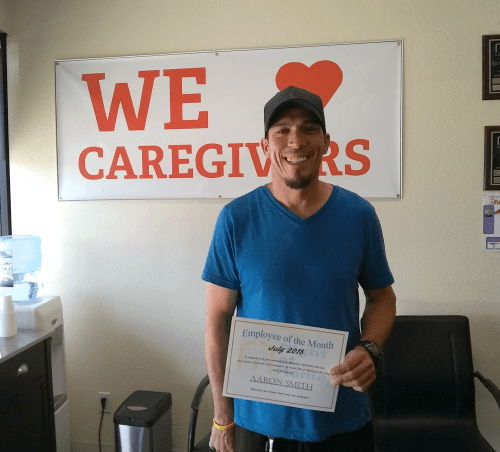 Aaron Smith - July 2018 Caregiver of the Month