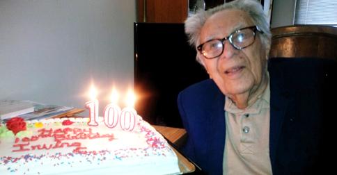 irving celebrating birthday cake