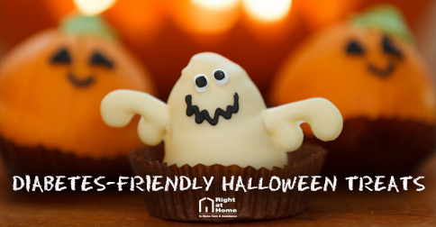 Halloween Treats with right at home logo