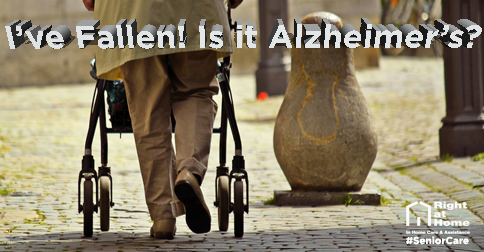 Senior walking down cobblestone street