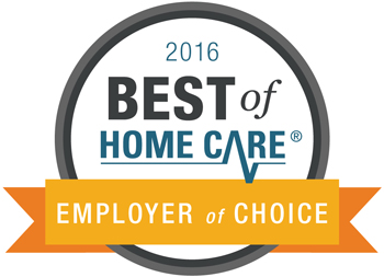 2016 Best of Home Care Employer of Choice