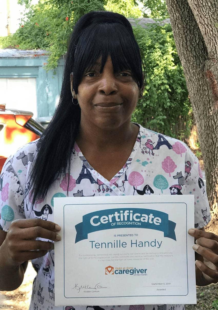 Caregiver Tennille Handy