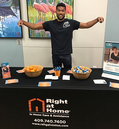 Right at Home's Booth at the Cancer Resource Fair