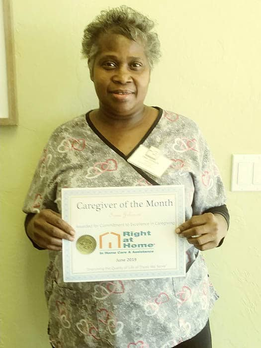 Irma J. June 2019 Caregiver of the Month