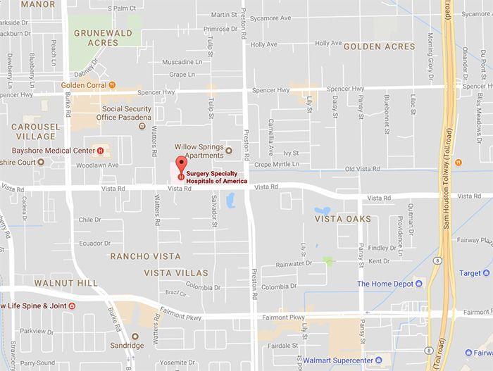 Right at Home Pasadena, TX Location Map