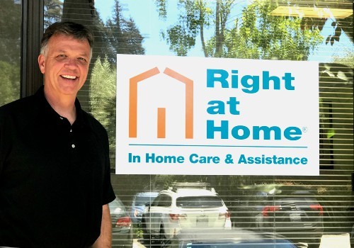 Right at Home owner, David Bullard, in front of Monterey Santa Cruz Office