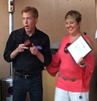David Davis Presents Award