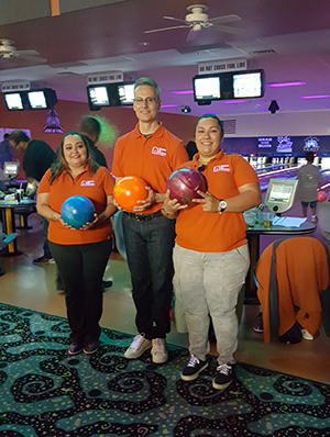 Big Brothers Big Sisters bowl a thon.