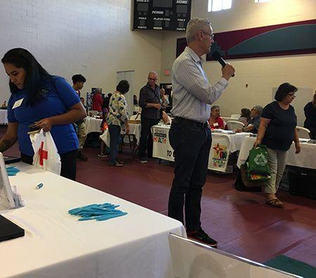 William at Pueblo of Tesuque's Annual Health and Wellness Fair