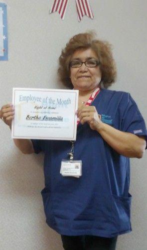 June Caregiver of the Month Bertha E.