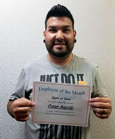 Caregiver Cesar Salcido
