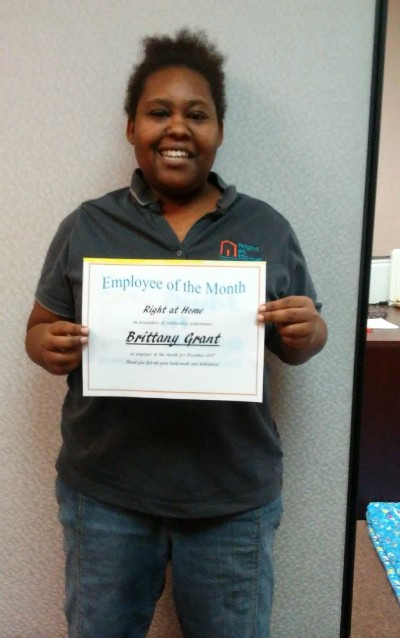 Employee of the Month for December Brittany Grant