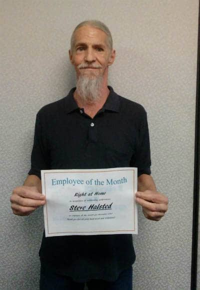 November Employee of the Month Steve Halsted