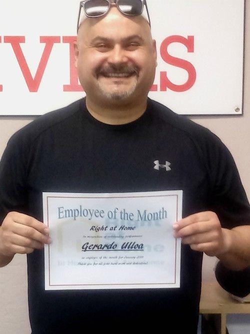 Gerardo Ulloa - Caregiver of the Month January 2019