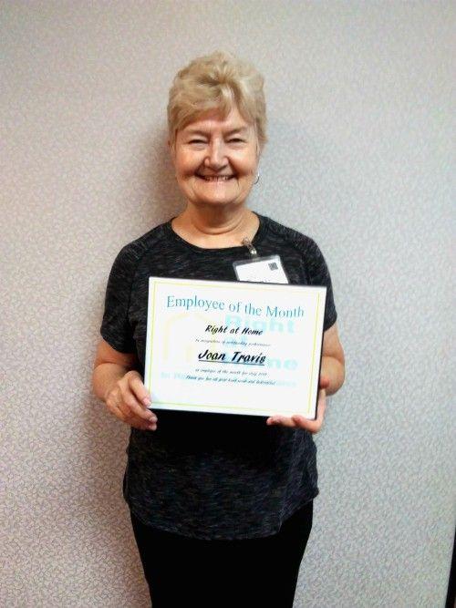 Joan Travis July Employee of the Month