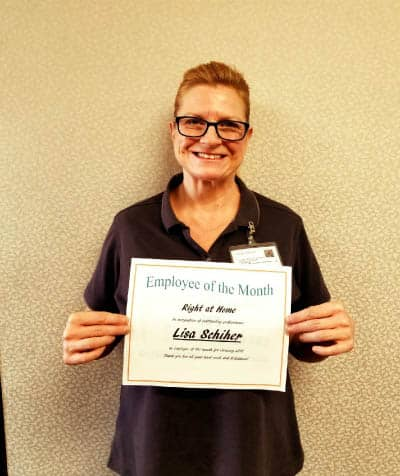 Lisa Schiher Employee of the Month January 2018
