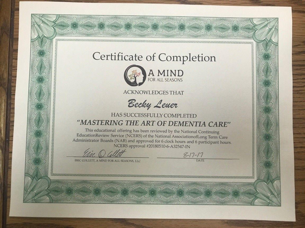 Mastering the Art of Dementia Care Certificate