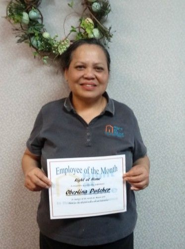 Oberlina March Caregiver of the Month