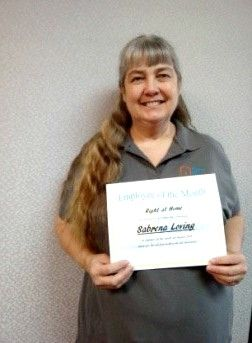 Sabrina Loving - August Caregiver of the Month