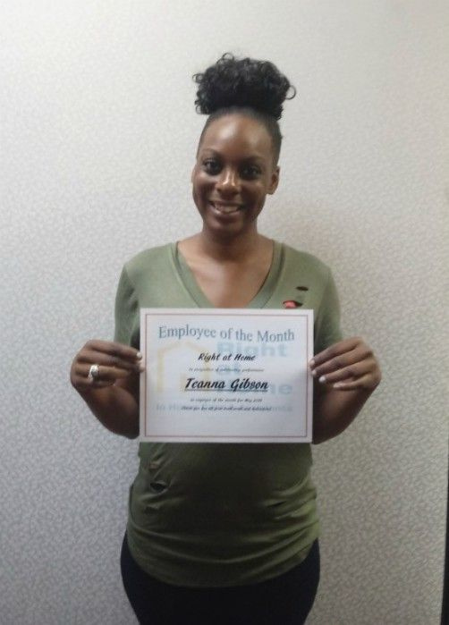 Teanna Gibson May 2018 Employee of the Month