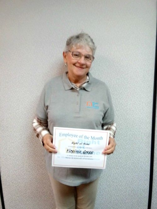 Virginia Gregg - November Employee of the Month