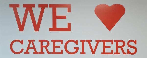 We Love Caregivers banner