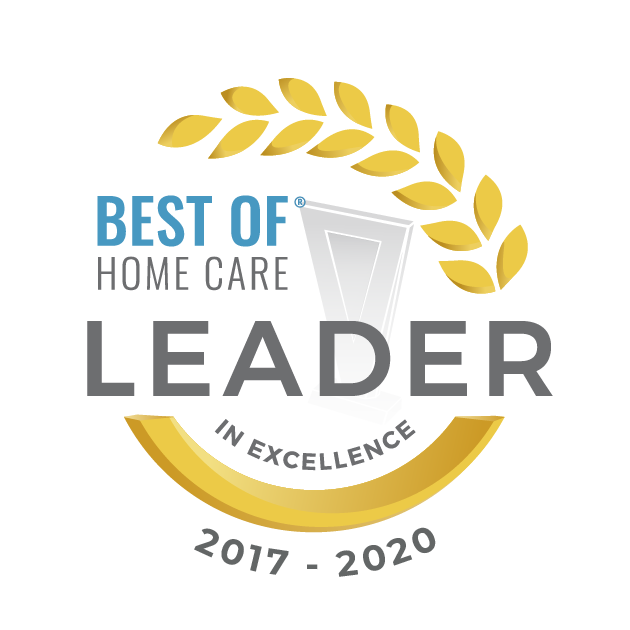 Best of Home Care Leader of Excellence award logo