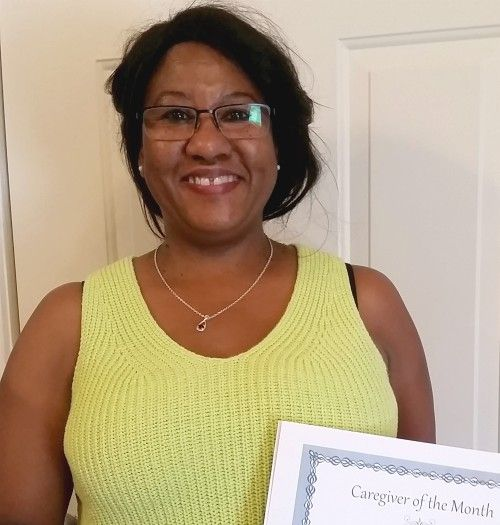 Yvonne B - June Caregiver of the Month