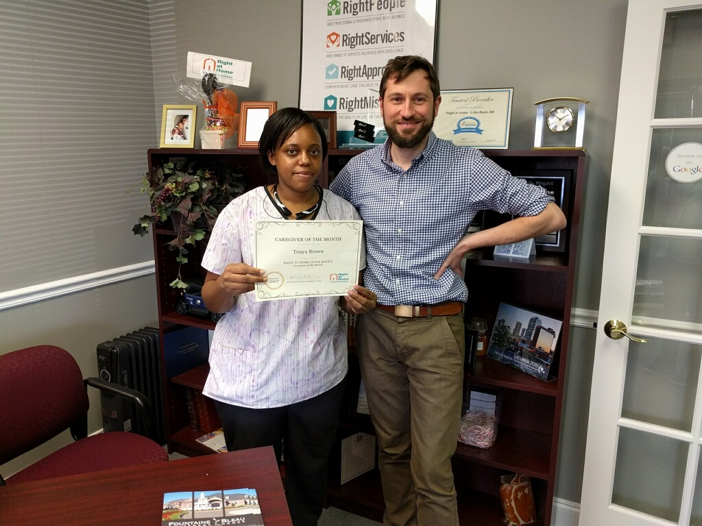 Caregiver of the Month March 2017 Little Rock Right at Home