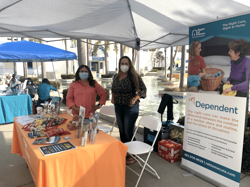 Michelle and Carmen at North County Wellness Fair