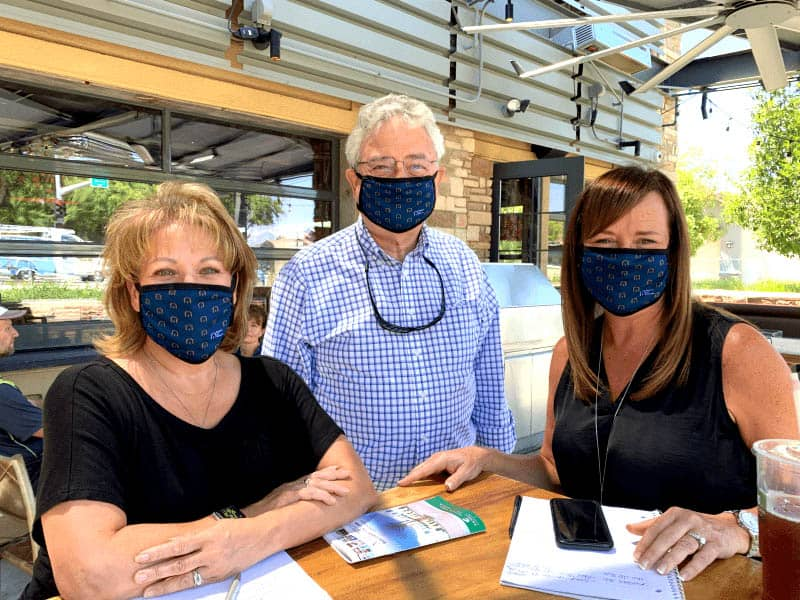 Right at Home San Diego County Owners with masks on Meeting