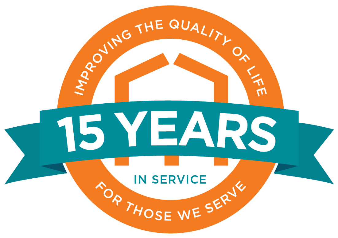 15 Years of Service Outlined No Shadow