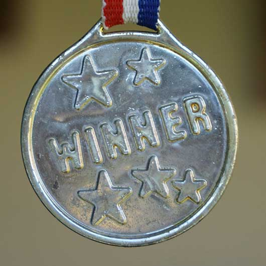 Winning medal