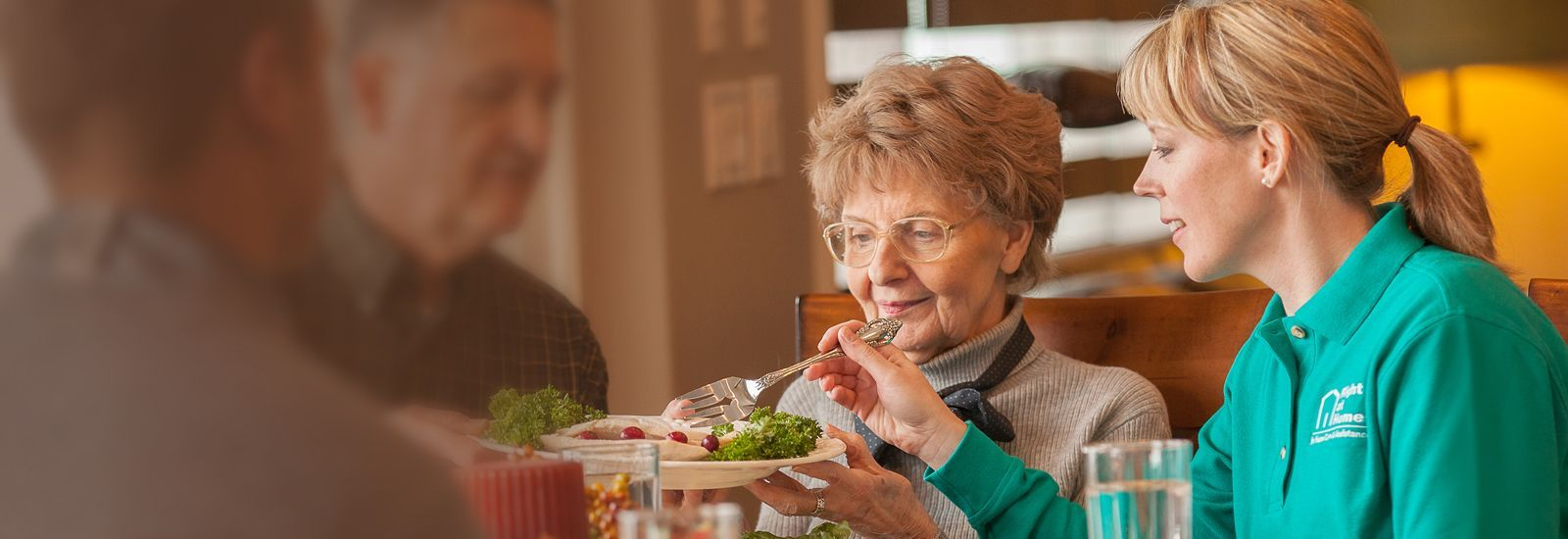 Right at Home Caregiver With Senior